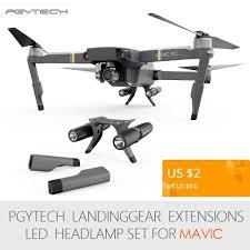 Dji Mavic Pro Lights Meaning Pgytech Extended Landing Gear Leg Support Protector