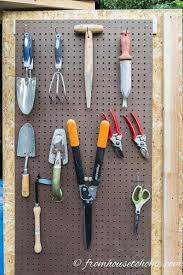 garden tools shed storage ideas