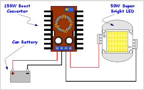 make a high power 50w led work your car battery henry s bench wiring up the boost converter