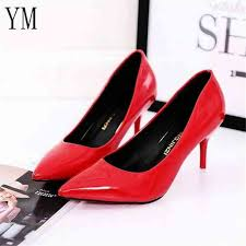 hot ing women shoes pointed toe pumps patent leather dress red 8cm high heels boat shoes shadow wedding shoes zapatos mujer