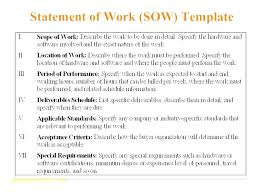 It Sow Template Construction Scope Of Work Document Template Sample It Sow Contract