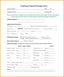 Employee Change Form Best Employee Change Form Template Best Payroll Personal Word Wage Slip