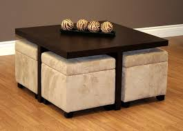 Java Coffee Table Coffee Table With Storage Ottomans For 4 Lift Thippo