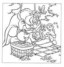 Disegni Da Colorare Belle Principessa Disney E La Bestia Pic Nic