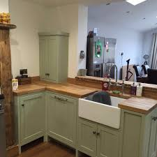 Fitted Kitchen Handmade Fitted Kitchen Farrow And Ball Vert De Terre Reclaimed