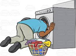 black man washing clothes. Wonderful Black A Black Man Searching For A Missing Object Inside The Washing Machine  Adult Blackman On Black Man Washing Clothes