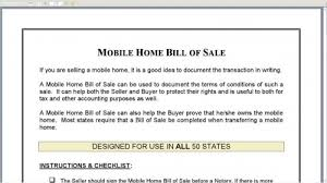 Manufactured Home Bill Of Sale (18 Photos) - Bestofhouse.net | 20017