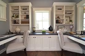 built home office desk builtinbetter. built in home office designs beauteous decor modern two work spaces desk builtinbetter i