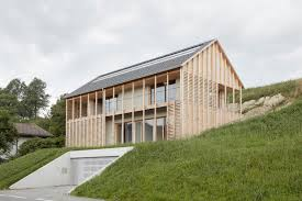 contemporary architecture. Minimalist Timber Home Gracefully Blends Into The Austrian Landscape Contemporary Architecture R