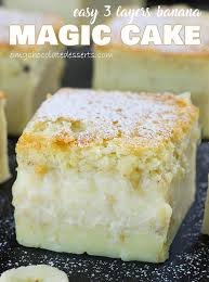 Easy Banana Magic Cake Omg Chocolate Desserts