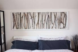 simple framed twig homemade wall art