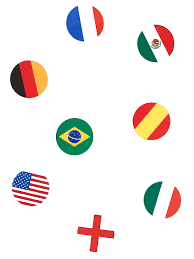 150 Confettis de table drapeau multi-nations : Deguise-toi, achat de ...