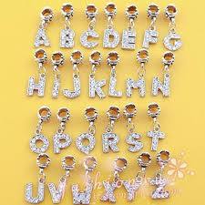 Free Shipping A R Alloy Bead Charm European Letter The Alphabet Silver Plated Bead Fit
