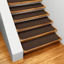 carpet laminate stairs. set of 15 skid-resistant carpet stair treads chocolate brown laminate stairs