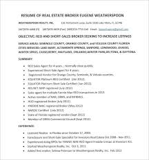 Real Estate Agent Resume Inspiration 48 Real Estate Resume Templates To Download For Free Sample Templates