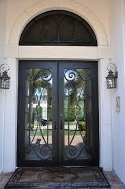 Backyards : Wrought Iron Entry Doors Custom Bronze Exterior Front ...