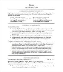 Executive Resume Templates Classy Insurance Executive Resume Free Executive Resume Template And What