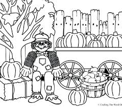 printable scarecrow coloring pages thanksgiving page crafting the word of picture printable scarecrow coloring pages