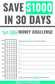 How To Save 1000 In A Month Chart E Book Save More Than 1000 Each Month