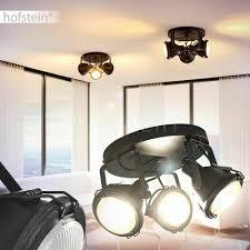 Decken Leuchte Zimmer Schlaf Wohn Schwarze Vintage Lampe