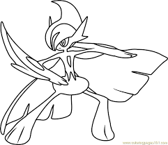 Small Picture Mega Gallade Pokemon Coloring Page Free Pokmon Coloring Pages