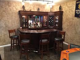 Basement corner bar Small Space Reffitts Basement Bar Robertson Billiards Bars Robertson Billiards