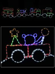 Christmas Outdoor Rope Light 3d Train Christmas 2d Rope Light Silhouette Train With 3 Carriages