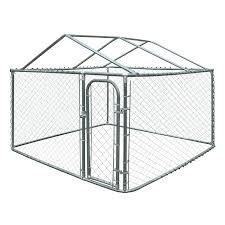 advantek the original pet gazebo outdoor kennel chain link dog yard kennel with roof frame advantek