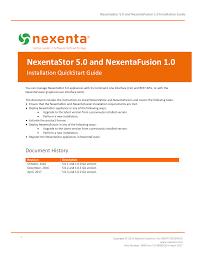 Nexentastor 5 0 And Nexentafusion 1 0 Installation Guide
