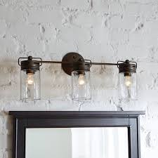bathroom vanities lights. Mason Jar Inspired Bathroom Vanity Lights With 3 Bulbs Vanities 5