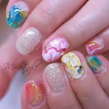 Mieko Hiramatsuさんのネイルデザイン 夏オススメ夏ネイルピンク