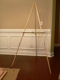 we bought this flimsy easel couple of years ago and for a while it worked fine
