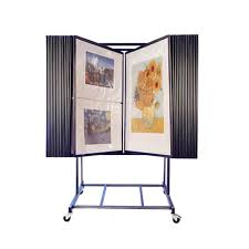 Interior Display Stands 100 Panel Adjustable Fine Art Display Art Print Rack Flip Style 52