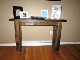 vintage entry table. Nice Barn Wooden Entryway Table With Artwork Pictures Frame Decors On Brown Flooring In Vintage Interior Furnishings Ideas Entry I