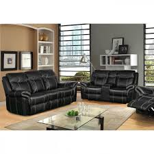 picture of boardwalk leather reclining sofa console loveseat
