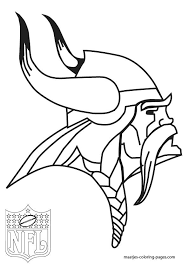 Viking Nfl Rush Zone Coloring Pages Print Coloring