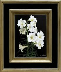 st joseph s lillies 640 x 540 mm unframed dimensions r 22 000