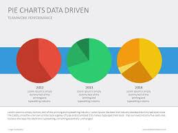 How To Do A Pie Chart In Powerpoint Three Pie Charts In One Slide For Data Comparison Piechart