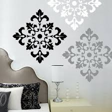 wall words decals fabulous vinyl decal stickers unique creative baroque motif grey white black colours stunning