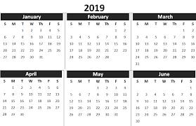 printable 6 month calendar 2019 2019 1st half year calendar 2019 calendars pinterest calendar