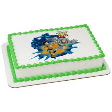Amazoncom Disneys Toy Story Licensed Edible Cake Topper 8283