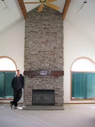 Stone Veneer FireplacesStacked Stone Veneer Fireplace