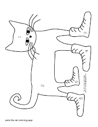 Pete The Cat Easter Coloring Pages Click The Cat I Love My White