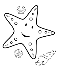 Starfish Coloring Pages Free Gif 1068