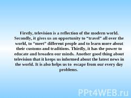 Merits and demerits of television essay