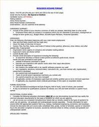 Proper Format Of Resume Pointrobertsvacationrentals Com