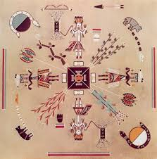 home of the bear and snake eugene baatsoslanii joe mark bahti navajo sandpainting
