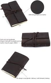 leather bound notebook handmade leather journal