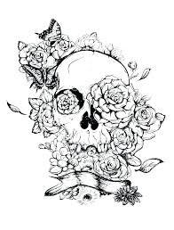 Sugar Skull Coloring Pages Printable Printable Sugar Skull Coloring