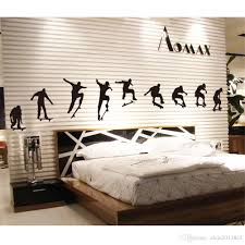 skateboard sports cool life simple black diy wall stickers wallpaper art decor mural room decal art decor decals removable stickers for walls removable